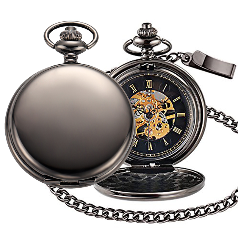 happy birthday mechanical pocket watch 1000PX-2