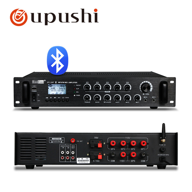 PA System 120W Power Amplifier 5 Zones And Ceiling Speaker Package For Home Store Shop Restaurant Background Music System