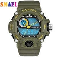 Новые часы smael мужские G стиль Wateproof S Shock спортивные мужские s часы лучший бренд класса люкс светодиодный цифровые военные армейские часы нар