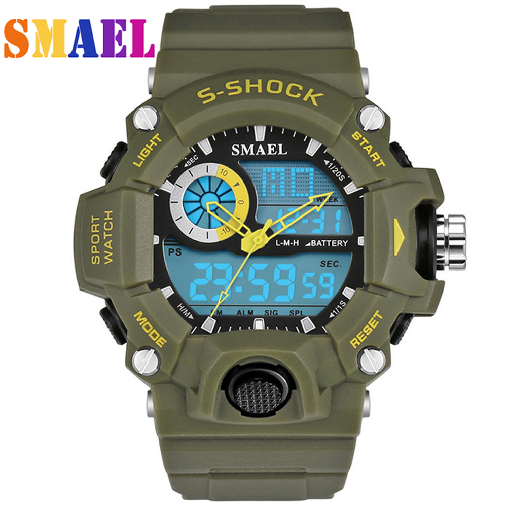 все цены на New SMAEL Watches Men G Style Wateproof S Shock Sport Mens Watches Top Brand Luxury LED Digital-watch Military Army Wristwatches