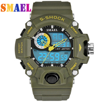 New SMAEL Watches Men G Style Wateproof S Shock Sport Mens Watches Top Brand Luxury LED Digital watch Military Army Wristwatches