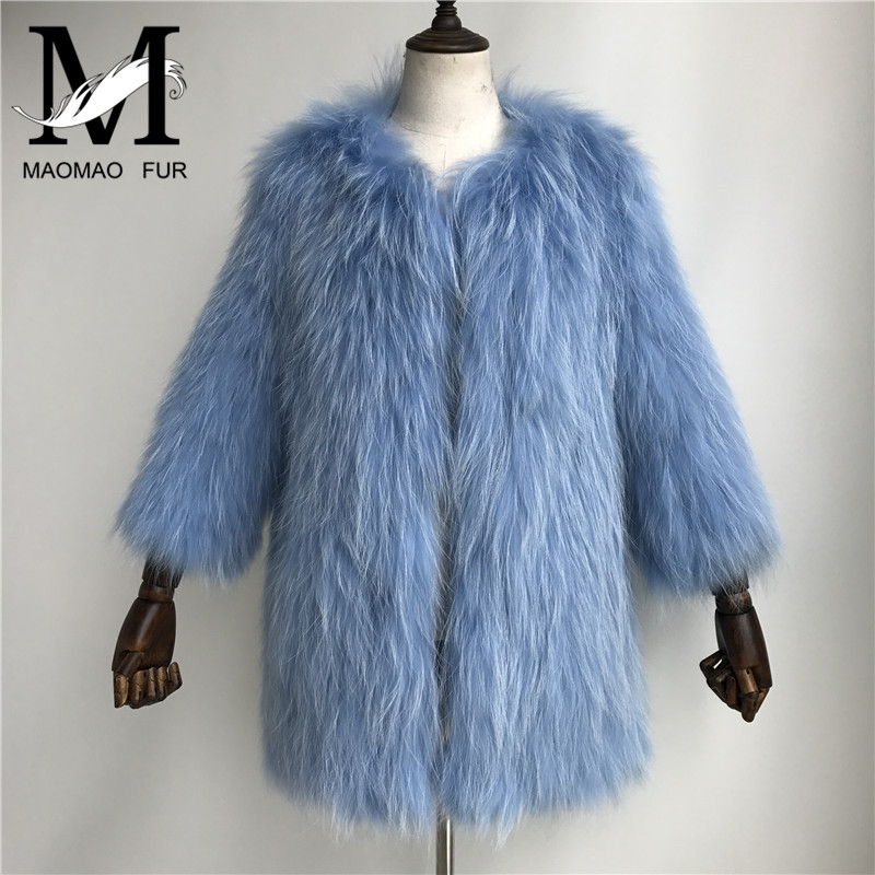 yellow Longues Pink Manches À Long Furry pink three caramel Chaud red Veste Tricoté Femelle Survêtement dark dark Femmes Hiver Automne Colors Blue navy Manteau Laveur Raton natural Grey green Réel Fourrure De black white White cream zvqvwpHP