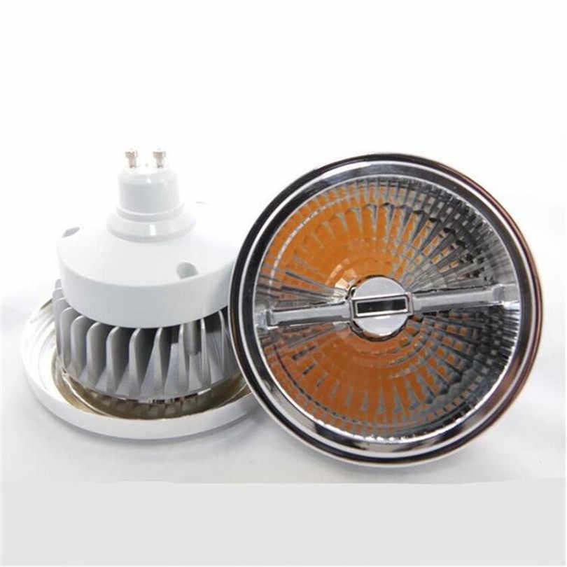 Lámpara LED COB AR111 15W súper brillante, lámpara LED AR111 QR111 G53 GU10, lámpara Led regulable, lámpara LED AC110V/220V/DC12V foco
