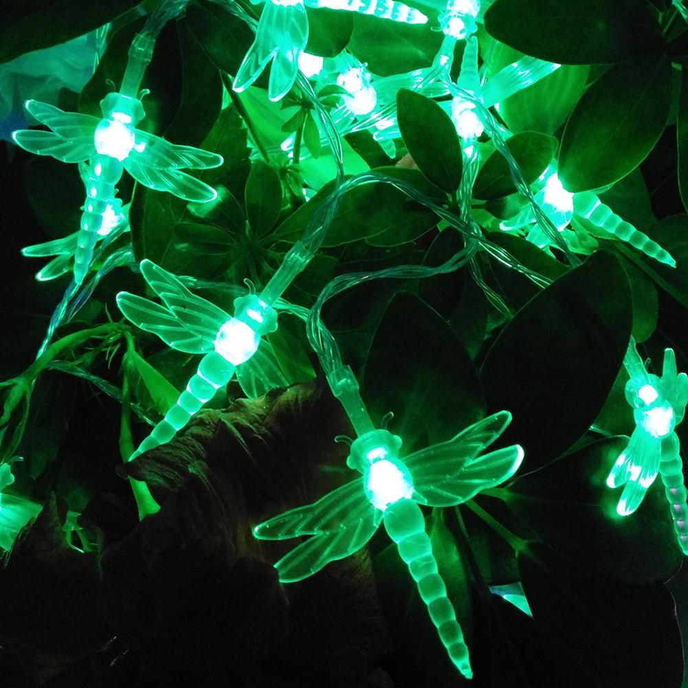 YIYANG NEW 5M 50LED Lights Dragonfly led String AA battery Garland ...