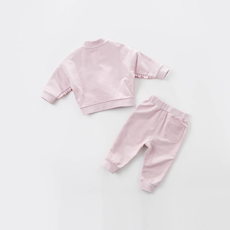 DB7125 dave bella spring infant baby girls fashion floral clothing sets children 2 pc toddler suit
