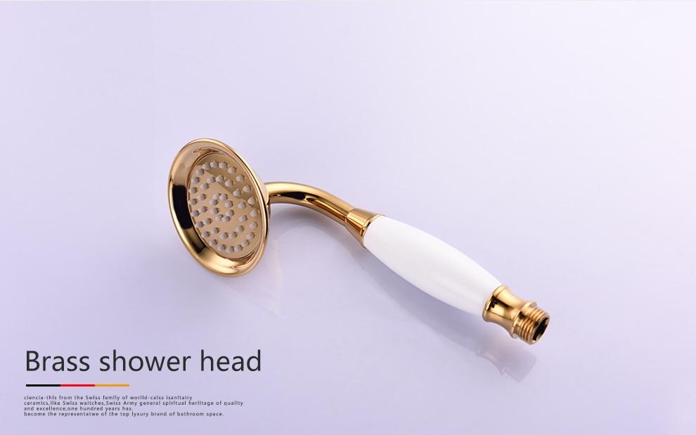 Freies Verschiffen Sus304 Edelstahl Gold Metall Dusche Schieberegler Mit Höhe Einstellbar Für Badezimmer Mit Duschkopf Brauseschlauch Heimwerker