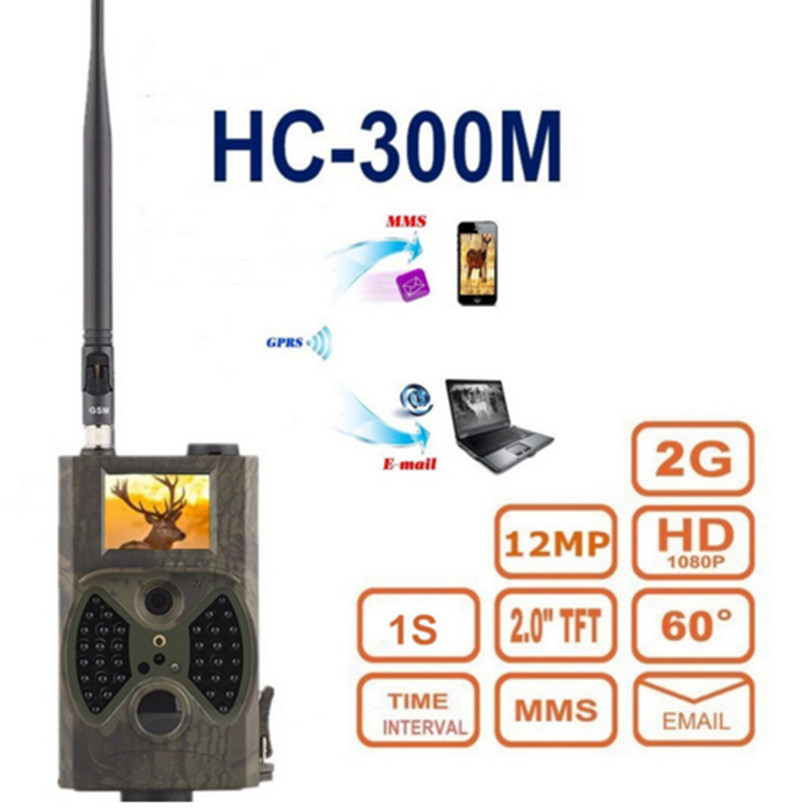 12MP MMS SMS GSM Hunting Camera HC-300M Night Vision Scouting Trail Camera 2G Infrared Wildlife Camera HC300M 12mp trail camera gsm mms gprs sms scouting infrared wildlife hunting camera hd digital infrared hunting camera