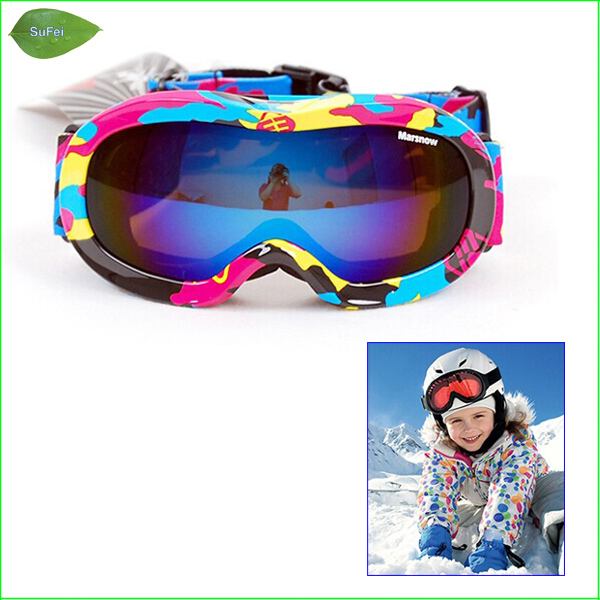 FG50 Kids Double Lens Ski Goggles Anti-fog Professional Children Ski Glasses For 4~12 Year Olds Children