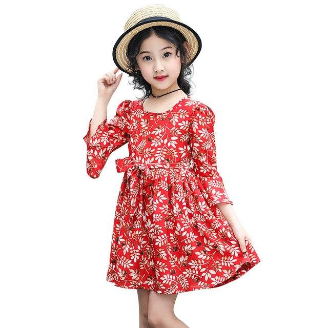 cb9a196180b923 Baby Mädchen kleidung mädchen floral chiffon-kleid kinder party kleid  mädchen jugendliche kleider für mädchen