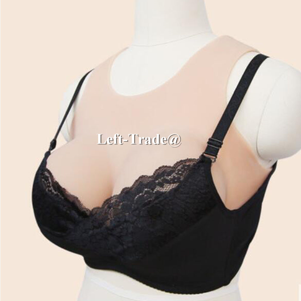 NEW vest style big realistic silicone breast form invisible boobs for drag queen cosplay use