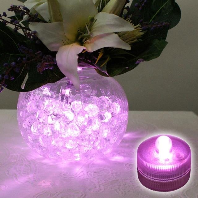 12pcslot 11colors Underwater Led Tea Lights Under Vase Waterproof