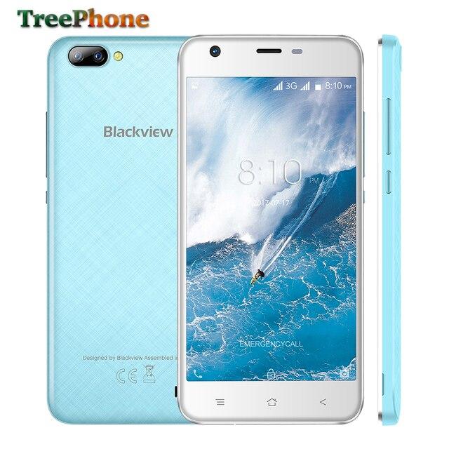 Оригинал Blackview A7 мобильного телефона MTK6580 Quad Core 5.0 дюймов IPS HD экран смартфона Android 7.0 1 ГБ Оперативная память 8 ГБ 3 г сотовом телефоне