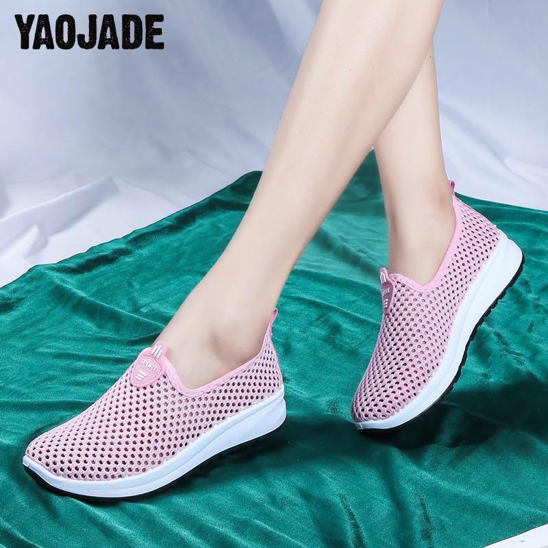 La Alta Calidad Madre Zapatos Sana Las Cómodo Suave De Moda Parte pink gray Casual Malla Inferior Plana Black Señoras Transpirable qfWIP