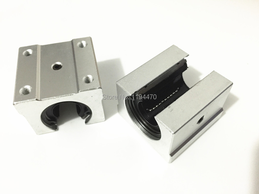 2pcs/Lot SBR12UU Linear Bearing 12mm Open Block Linear Motion Bearing Slide CNC Router Linear Slide silver open roller bearing slide block
