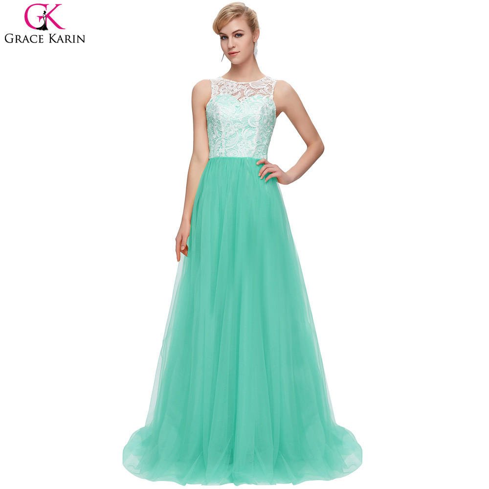 Grace Karin Mint Green White Blue Red Lilac Yellow Long Prom Dresses ...