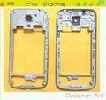 Оригинал Ближний Рамка Рамка Для Samsung Galaxy S4 Mini I9190 I9195 i9192 ближний Крышку Корпуса Чехол + Стеклянный Объектив Камеры