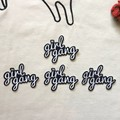 50Pcs/lot Girl Gang Letter Patches for Clothing Iron on Embroidered Applique Patch Sew Fabric Clothes Badge DIY Sticker Decor