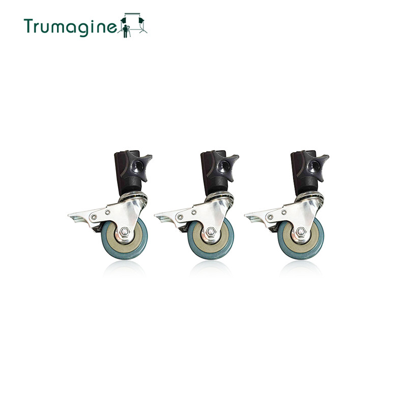 TRUMAGINE 3PCS Photography Studio Universal 22mm  Caster Wheel for lighting stand Photo Studio Accessories
