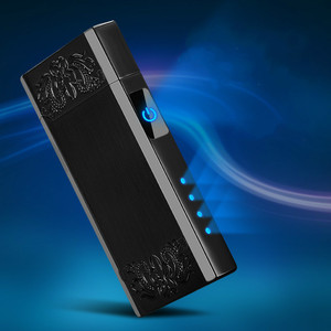 Nuevo mechero Usb de doble arco con pantalla LED, encendedores de cigarrillos de Plasma eléctricos recargables, Gadgets para hombres