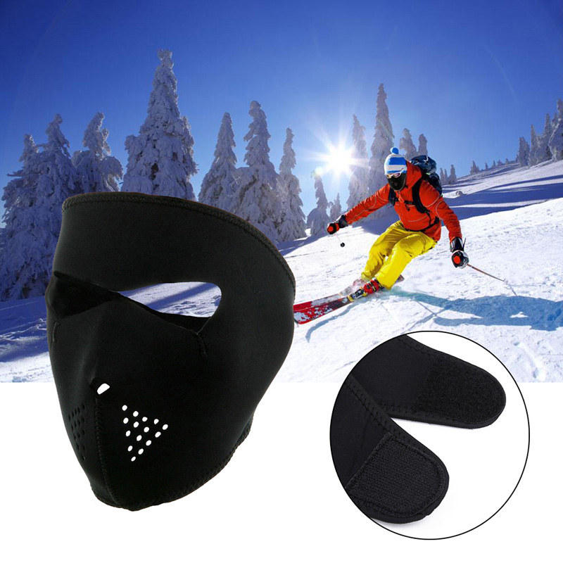 2 in 1 Skiing Cycling Bicycle Bike Training Mask Hiking Hunting Face Mask Reversible Neoprene Winter Full Face Mask Face Cover