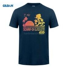 GILDAN   Printed Men T-shirt Short Sleeve Funny Tee Shirts  Rogue One Scarif Sunset Adult T-shirt