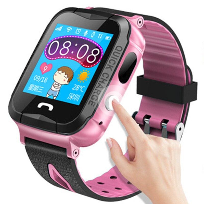 Подарок детям SmartWatch Водонепроницаемый GPS тройной позиционирования умный ребенок часы большой Цвет Экран браслет будильник узнать свет