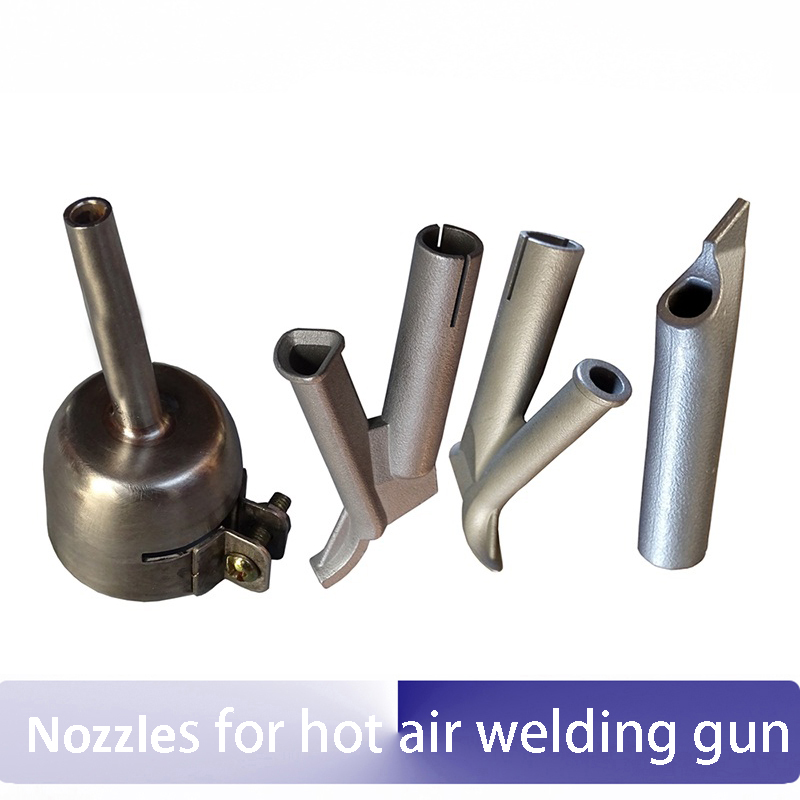 Titanium alloy standard nozzle+7mm Y-type quick triangular tip+5mm round nozzle+Positioning tip for plastic hot air welding gun 5mm round nozzle 5mm round speed nozzle 7mm triangle speed nozzle tacking nozzle