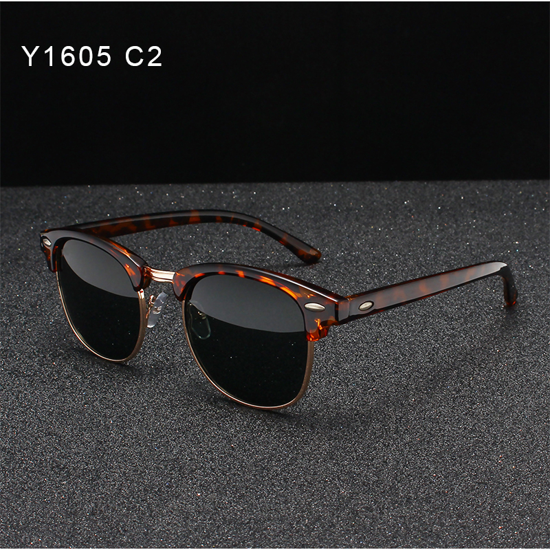 OLEY Brand Women Retro Polarized Sunglasses Fashion Classic Round UV Protection Unisex Goggles