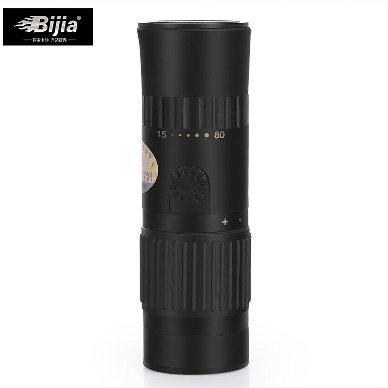 BIJIA 15-80x25 monocular-teleskop okular tragbare und zoomable mini ankunfts-fernglas monocular-teleskop mit garten werkzeuge