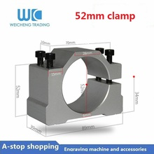 1pc 52mm Spindle Motor Brackets for 0.5kw machine Milling 500W Air Cooled Spindle ER11 Motors CNC Router Tools цены