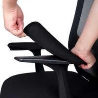 1 par preto computador cadeira braço capa macia estiramento cadeira de escritório proteger caso elástico à prova dwaterproof água inverno quente almofadas resto do braço