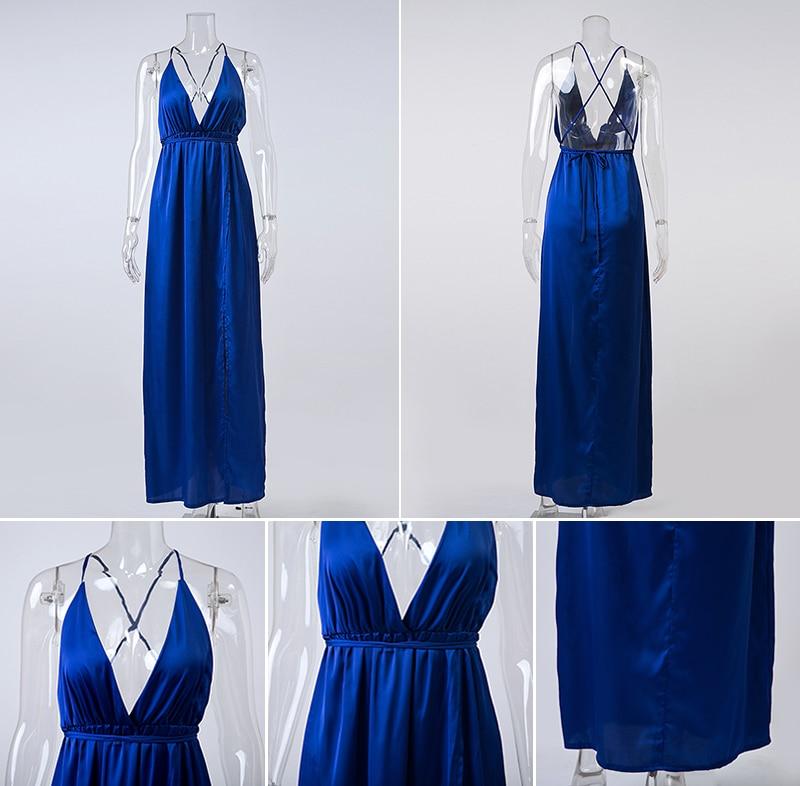 HTB1XW7.NFXXXXcLXpXXq6xXFXXXD - Off Shoulder Sexy Deep V Neck Beach Style Women Dress Strap Backless Maxi Long Evening Party Dresses JKP028