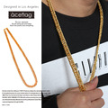 Women Men Thick Miami Cuban Necklaces  Gold Plated Bling Hip Hop Jewelry Gifts 35.4inch Charm Night Bar Club Snake Chains