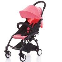 Легкие детские коляски 2 в 1 Алюминиевый сплав путешествия на открытом воздухе может быть на плоскости коляска