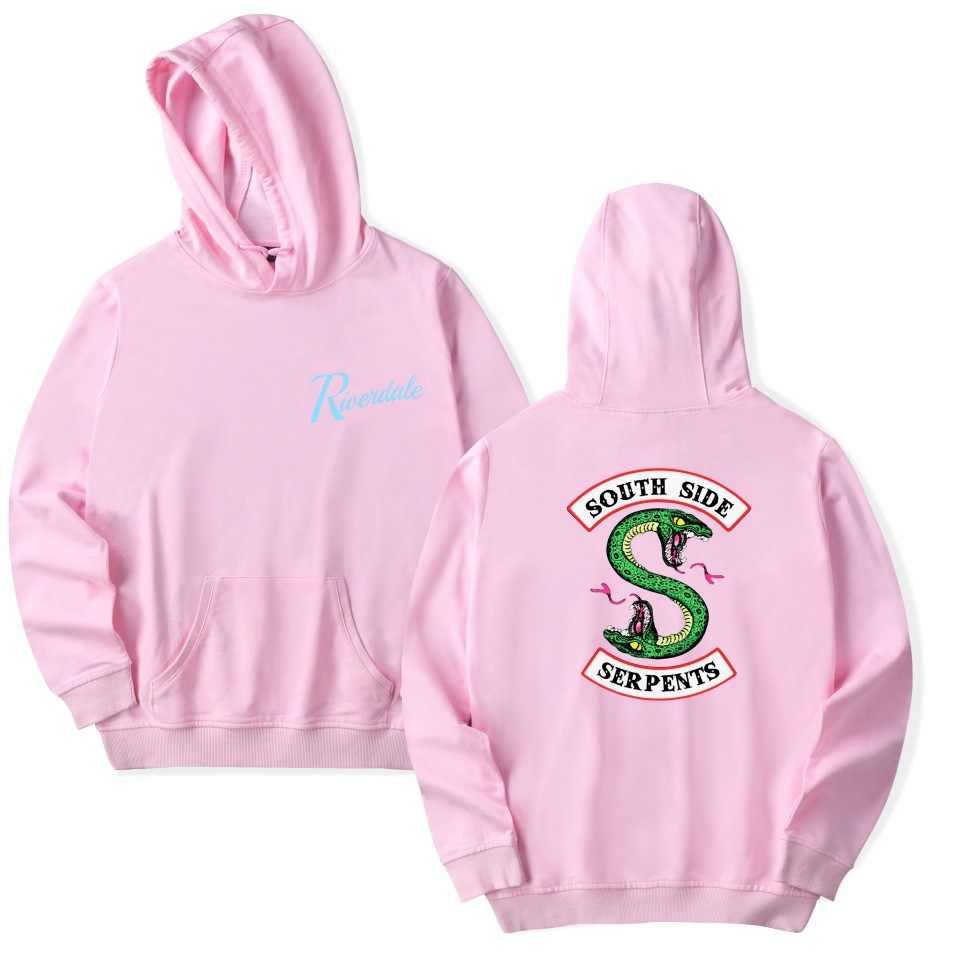 New Harajuku Fashion Riverdale Hoodie Sweatshirts Casual South Side Serpents Streetwear Women Hooded Long Sleeve Pullovers Tops