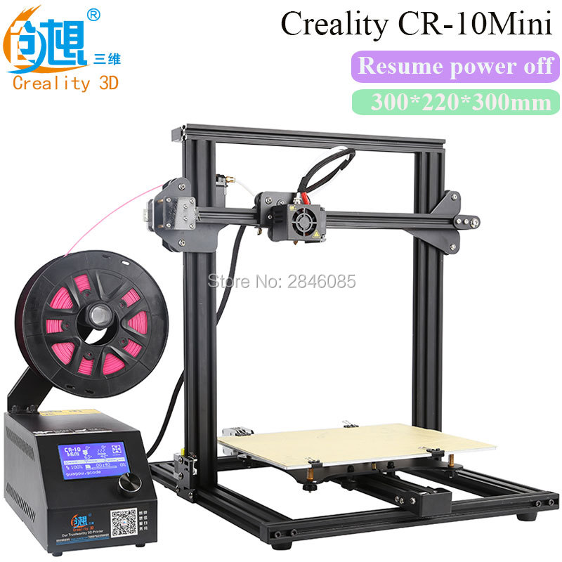 Creality 3D Official Creality CR-10Mini 3D Printer Large Printing Size 300x 220x 300mm resume Printing power off 3d printer Kit original anycubic 3d pinter kit kossel pulley heat power big size 3d printing metal printer fast shipping from moscow