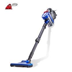 Puppyoo baixo ruído haste casa aspirador de pó handheld coletor doméstico preto & azul wp3009