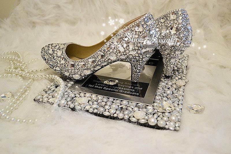 Medio A Party Diamante Señora Mujer 2018 Dazzing Del Prom De Noche Boda 6 La Primavera Hecho Talón Cm Mano Vestido Zapatos qnHawAE