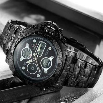 Men Luxury Electronic LED Digital And Analog Wristwatch 5
