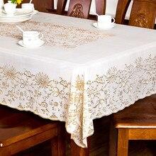 Pastoralen Stil PVC Wasserdicht Hochzeit Dekoration Startseite Rechteck Spitzetischdecke Tischdecke Öldicht Tischdecke