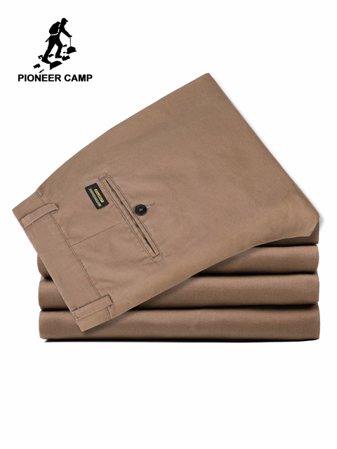 Pioneer Camp US Size 2019 Casual Pants Men Brand Clothing High Quality Autumn Long Khaki Pants Elastic Male Trousers AXX902191