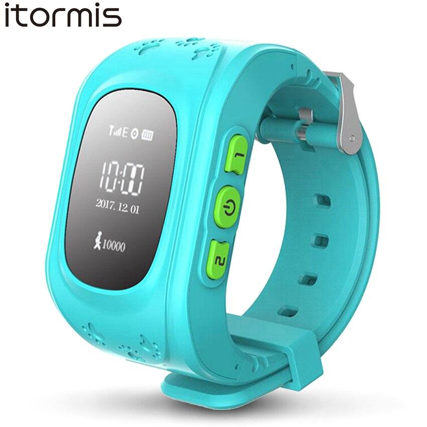 ITORMIS Q50 Enfants Bébé Montre Smart Watch Enfants Téléphone Montres De Sécurité De Sécurité GPS Location Finder Tracker Locator SOS pour iOS Android