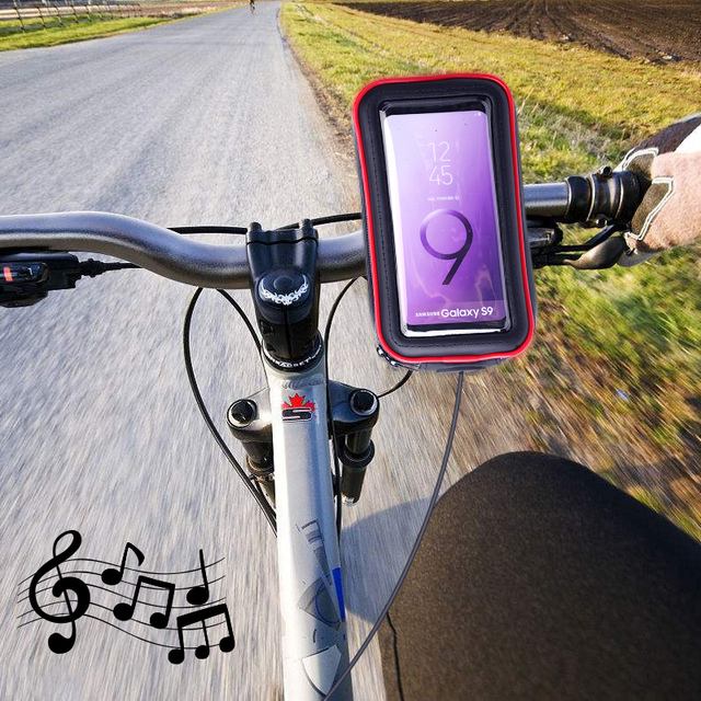Outdoor Waterproof Bike Motorcycle Mobile Phone Holder Stand Mount for iPhone Xs Max XR X w/ New Touch Screen Bicycle Phone Bag