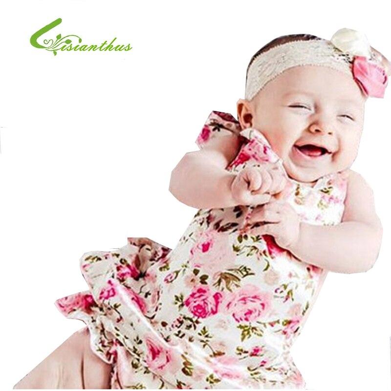 Baby Girls Romper Šaty Batoľatá Bez rukávů Letní oblečení s sukněmi Dětské plavky Dětské fotografie Plavky Doprava zdarma