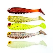 WLDSLURE 10 adet/grup silikon balık şekilli balıkçılık yapay yem yem 5cm/1.3g yumuşak silikon Tiddler yem balıkçılık cazibesi