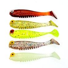 WLDSLURE 10 teile/los Silikon fisch geformt angeln Künstliche köder köder 5cm/1,3g weiche Silikon Tiddler Köder angeln locken