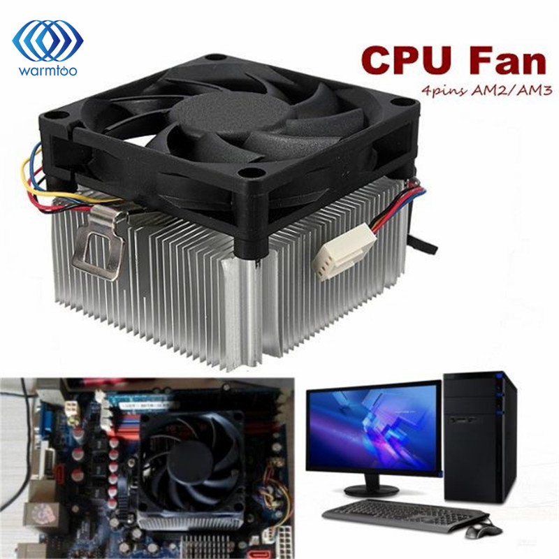 CPU Cooler Cooling Fan & Heatsink For AMD Socket AM2/3 1A02C3W00 9 Leaf 4 Pins Up To 95W Radiator Fan new pc cpu cooler cooling fan heatsink for intel lga775 1155 amd am2 am3 a97