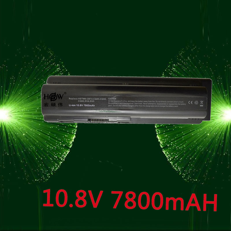 HSW Laptop Battery for HP Pavilion DV4 DV5 DV6 G71 G50 G60 G61 G70 For Compaq Presario CQ50 CQ71 CQ70 CQ61 CQ60 CQ45 CQ41 CQ40 for hp cq40 cq41 cq45 dv4 for amd discrete graphics dedicated laptop fan