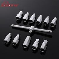 12PCS Oil Drain Plug Sump Tool 3 8 Wrench Socket Key Set Filter Gearbox