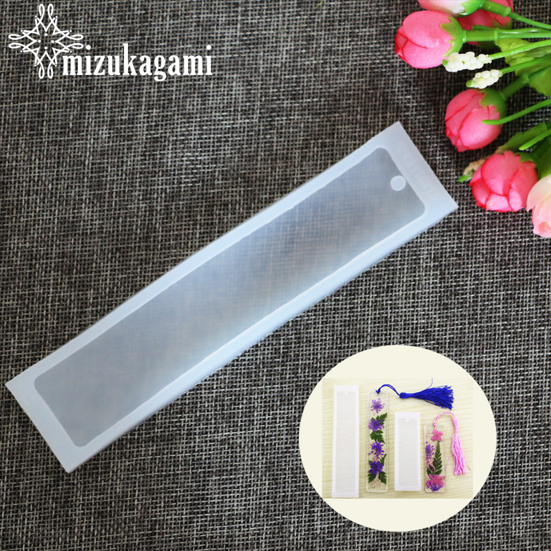 1PCS Craft DIY Transparent UV Resin Liquid Silicone Mold Rectangle Bookmarks Resin Molds For DIY Pendant Charms Making Jewelry